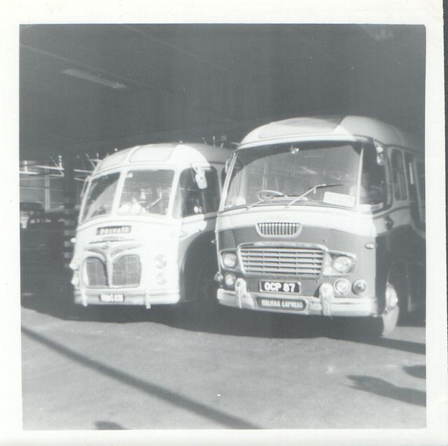 Hebble 48 (OCP 87) and unknown HAG 121 in Rochdale - circa 1965