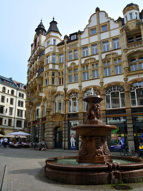 Leipzig 2015 – Fountain on the Barfußgäßchen