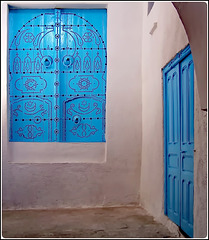 Tunisi : Dettagli azzurri nella Medina