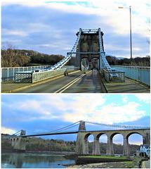 The Menai Suspension Bridge North Wales.