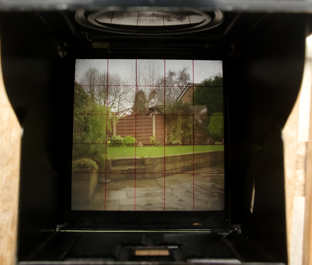 Yashica Mat viewing screen