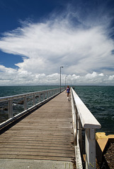 Along the jetty