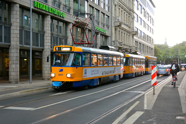 Leipzig 2015 – Tram 2107 on line 1 to Lausen