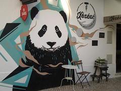 Panda mural.