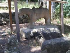 Ancient tomb sculptures.