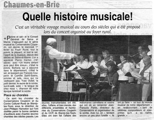 Concert à Chaumes-en-Brie le 01 février 2006