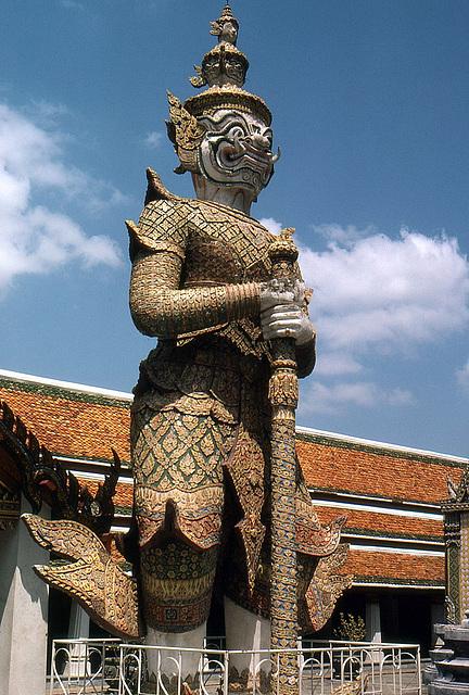 Riesen-Wächter vom Tempel im Königspalast 1981