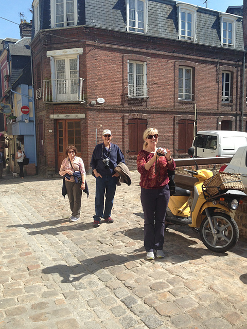 On the streets of Honfleur