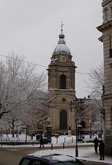 Birmingham Cathedral in the snow