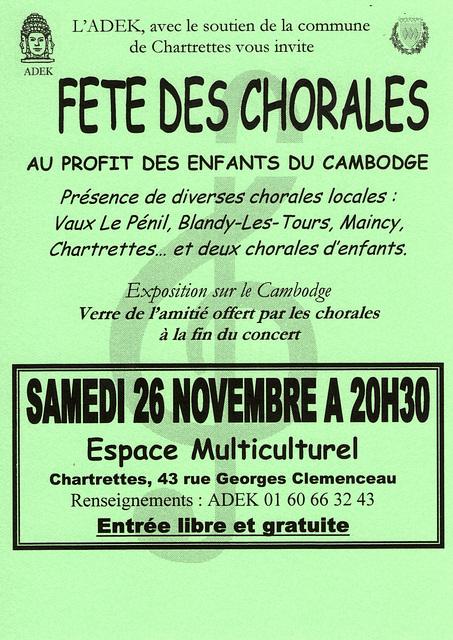 Concert à Chartrettes le 26 novembre 2005