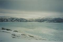 Baie et fjord du haut de la montagne