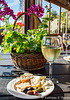 Tickle Pink Inn, Carmel, California - wine and cheese