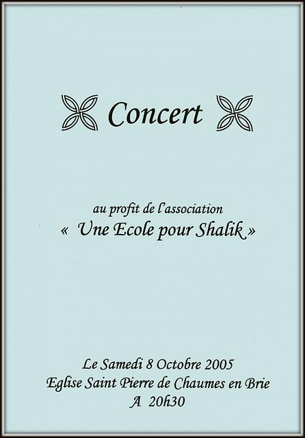 Concert à Chaumes-en-Brie le 08 octobre 2005