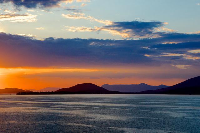 Crépuscule à Igoumenitsa (Grèce)