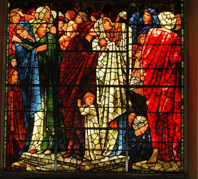 Detail of Sir Edward Burne-Jones Stained Glass, Cathedral, Birmingham