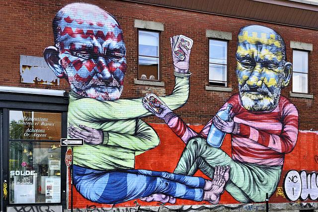 A Pair of Wild Jokers – Napoléon Street at boul St-Laurent, Montréal, Québec