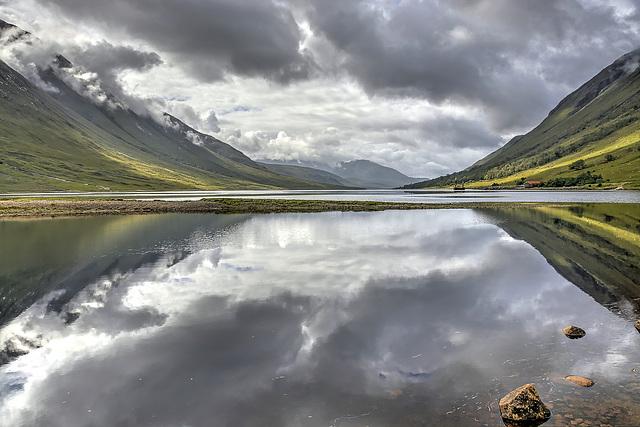 Reflections on Loch Etive, Argyll, Scotland