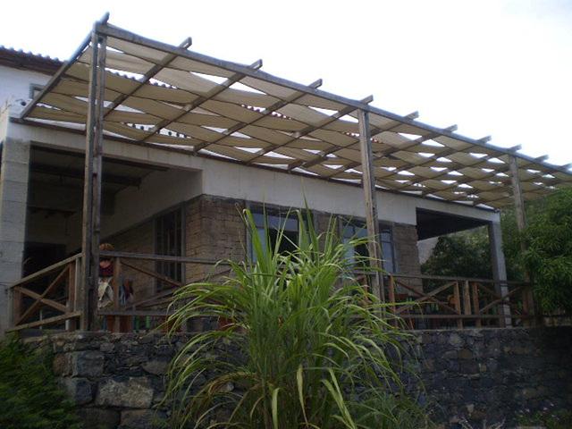Terrace of Babilónia Restaurant.