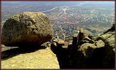 La Cabrera town from the ridge.