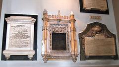 Memorials in tower of Saint Philip's Cathedral, Birmingham