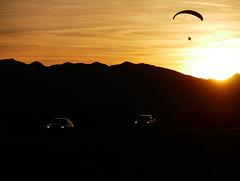 Paraglider in Sunset, Quartzsite, Arizona