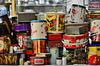 Some tins at the Harbour Market