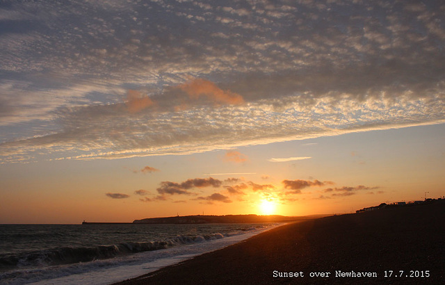Sunset over Newhaven - 17.7.2015