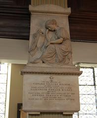 Memorial to Edward Villers Wilkes, Saint Philip's Cathedral, Birmingham