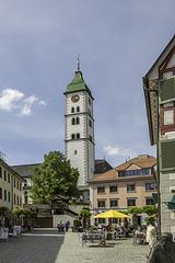 Wangen im Allgäu, Blick zur St. Martinskirche