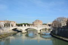 Roma, Ponte Vittorio Emanuele II sul Tevere e  Castel Sant'Angelo