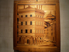 City view, in notched wood (1486).