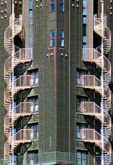 Feuertreppen am Hotel Hafen Hamburg