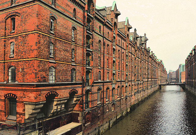 Fleete in der Speicherstadt/ Hamburg (2xPiP)