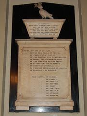 Memorial to Sir Edward Thomason, Saint Philip's Cathedral, Birmingham