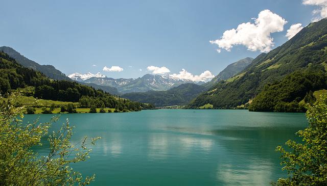 Le lac d'accumulation de Lungern