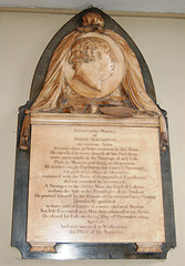 Memorial to the Painter Moses Haughton, Saint Philip's Cathedral, Birmingham