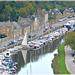 Vue depuis la tour Saint Catherine vers la Rance et le port de Dinan