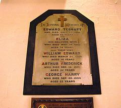 Tebbutt Family Memorial, Saint Margaret's Church, Ward End, Birmingham