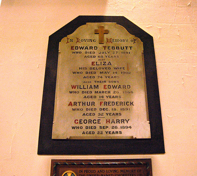 Tebbutt Family Memorial, Saint Margaret's Church, Ward End, Birmingham