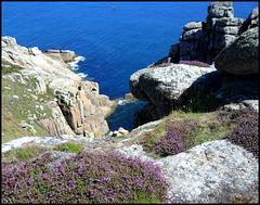 granite, heather and ocean