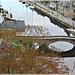 Vue depuis la tour Sainte Catherine vers le pont du port de Dinan (22)