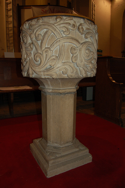 Font St Margaret's Church, Ward End, Birmingham, West Midlands