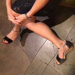 wife in cole haan heels