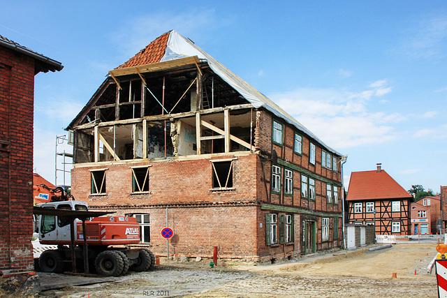 Grabow, Fachwerksanierung 2011