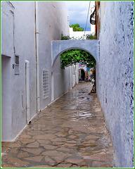 Hammamet : una strada della Médina dopo la forte pioggia