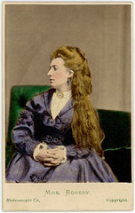 Clara Rousby, British Stage Actress, ca. 1870s