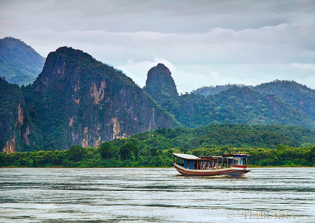 Heading up the Mekong