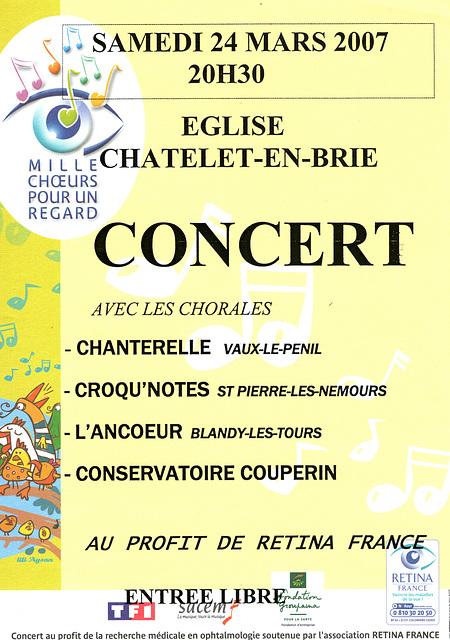 Mille Choeurs au Chatelet-en-Brie  le 24 mars 2007