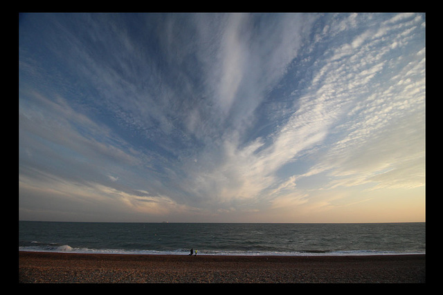A first view of the sky and sea - Seaford Bay - 17.7.2015