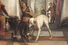 """""""Le banquet dans la maison de Simon"""" (détail) (Véronèse - 1570)"""